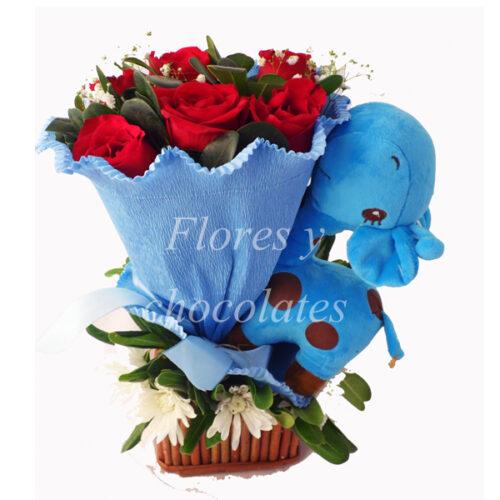 Niño Flores y Chocolates a domicilio en santiago