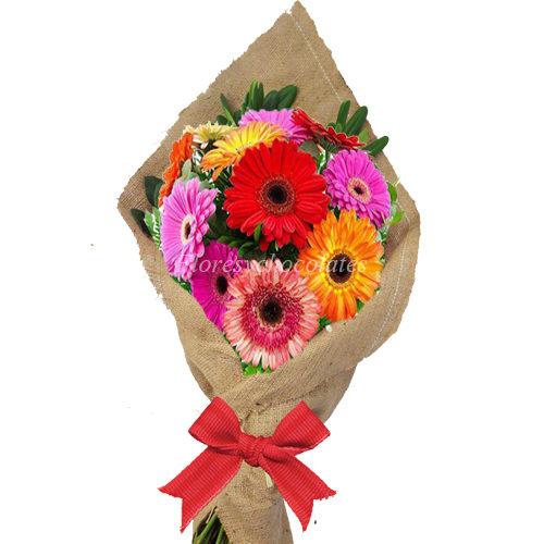 Ramo De Gerberas Colores Variados Flores Y Chocolates