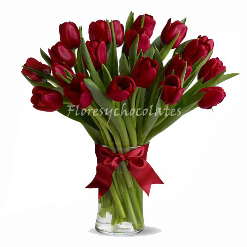 Florero de tulipanes a domicilio