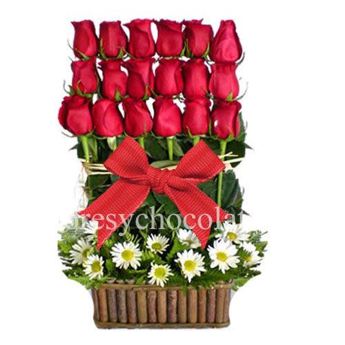 Arreglo de rosas rojas a domicilio